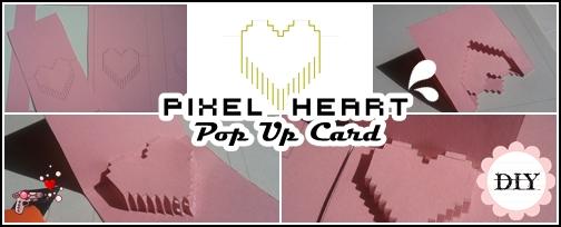 pop up card pixel heart - tutorial